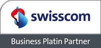 Logo Swisscom Business Platin Partner Coyote SA