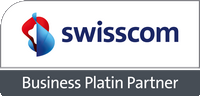 Logo Swisscom Business Platin Partner Coyote SA